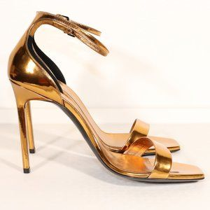 NWT Yves Saint Laurent Strappy Heels in Egypt Gold